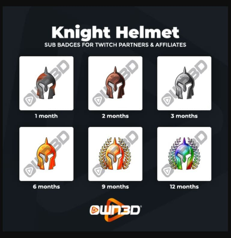 Twitch Sub Badges Knight