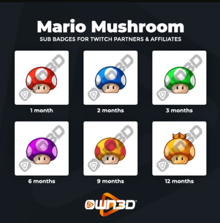 Twitch Sub Badges Mushroom