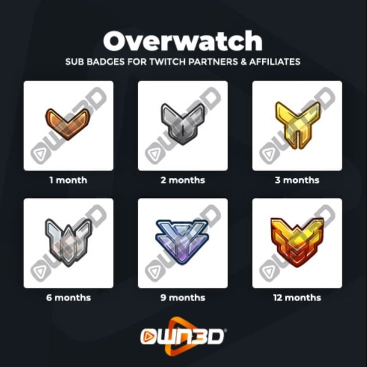 Twitch Sub Badges Overwatch
