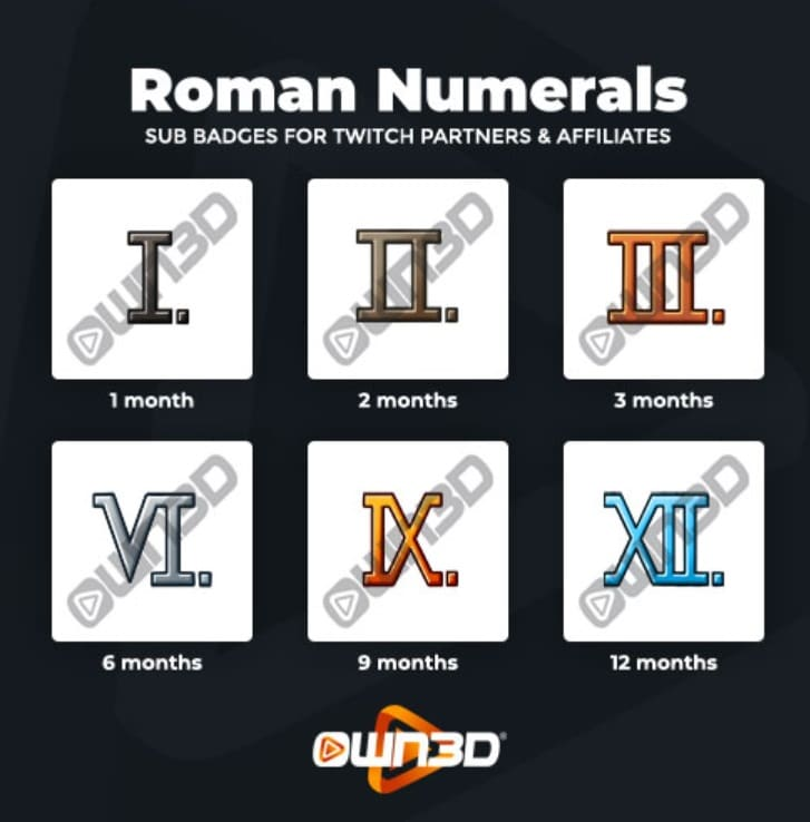 Twitch Sub Badges Roman