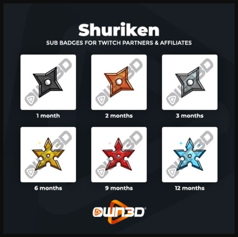 Twitch Sub Badges Shuriken