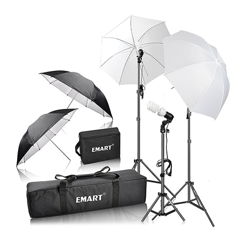 Emart 600W Studio Photography Photo/Video Portrait Kit