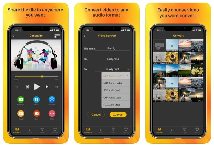 MP4 to MP3 Converter for ios