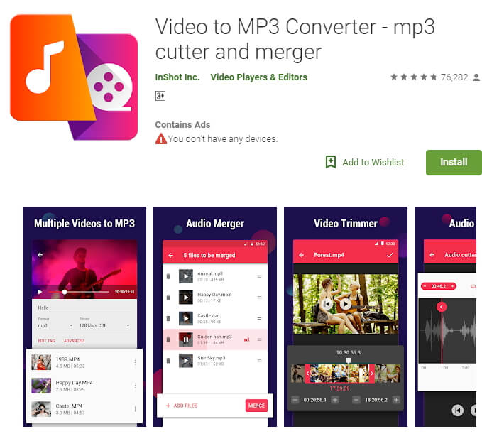 MP4 to MP3 Converter app