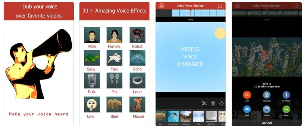 video voice changer fun editor