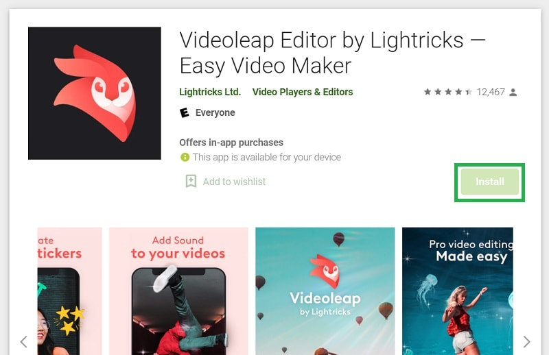 Install Videoleap