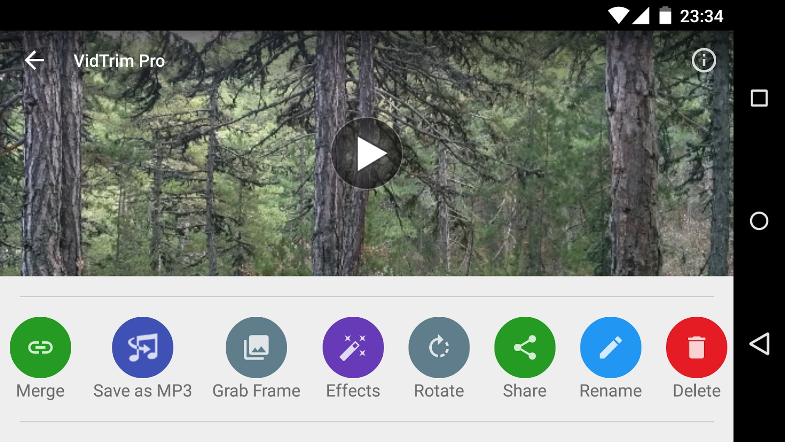 VidTrim Pro Editing Interface