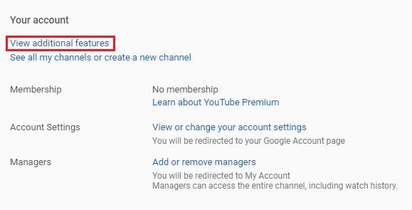 youtube watermark view additional features