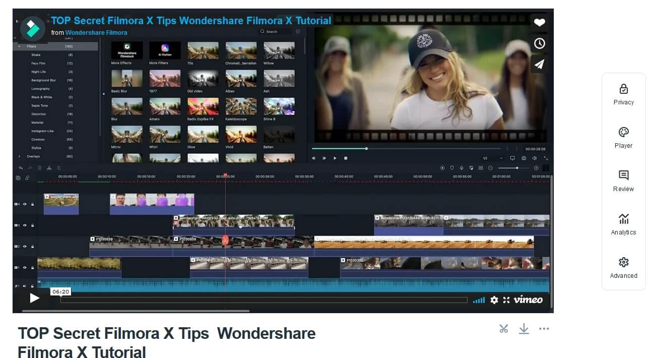 Vimeo Advanced Settings