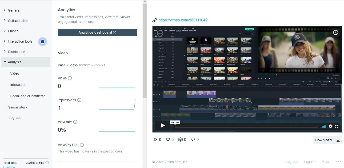 Vimeo Analytics