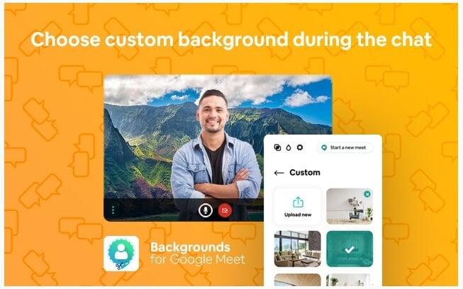 Google Meet extension: Virtual Backgrounds for Google Meet
