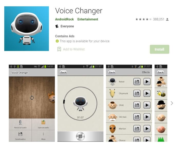 Android  Voice Changer