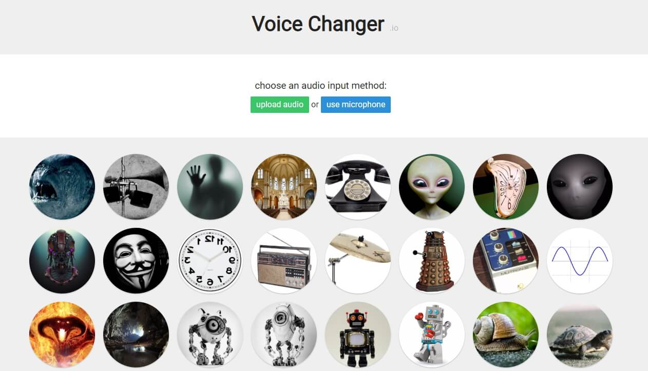 Best Free Online Voice Changer:  Voice Changer.iO