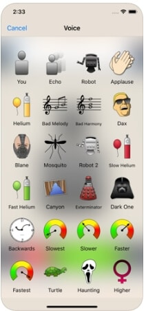 trocador de voz mais aplicativo