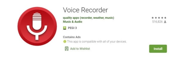 Vocie Recorder App for Android - EVoice Recorder