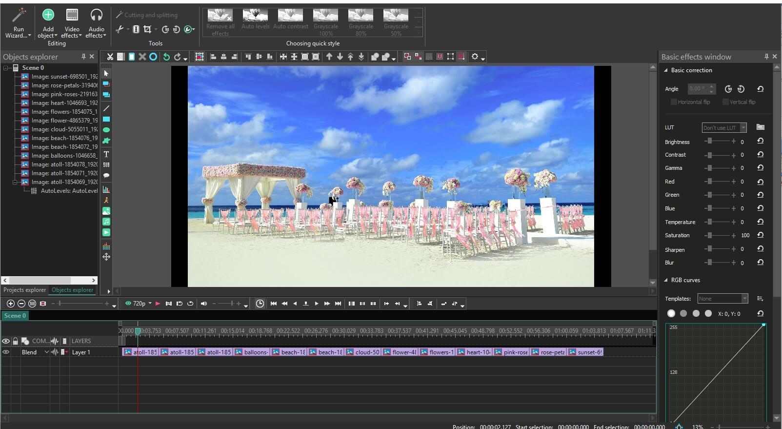 VSDC Wedding Invitation Video Editing