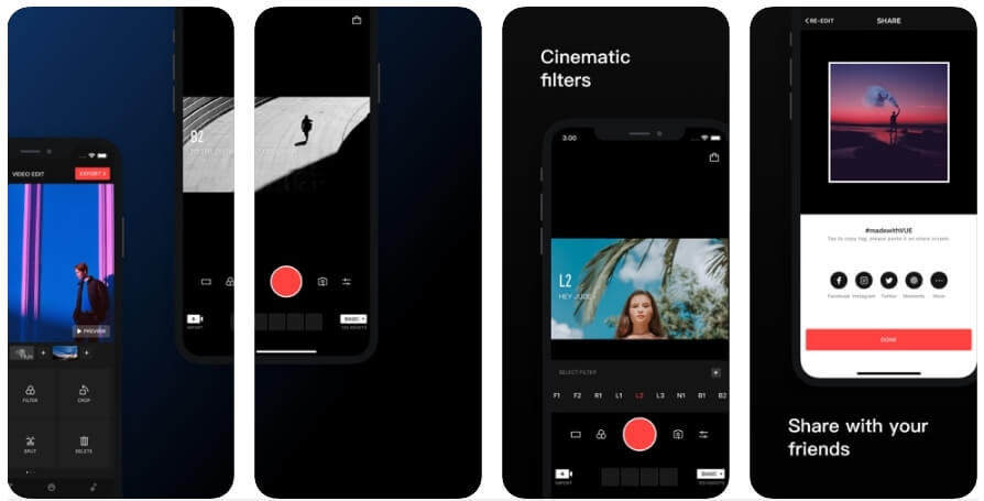 Trending Apps in 2019 for iPhone - VUE - Video Camera and Editor