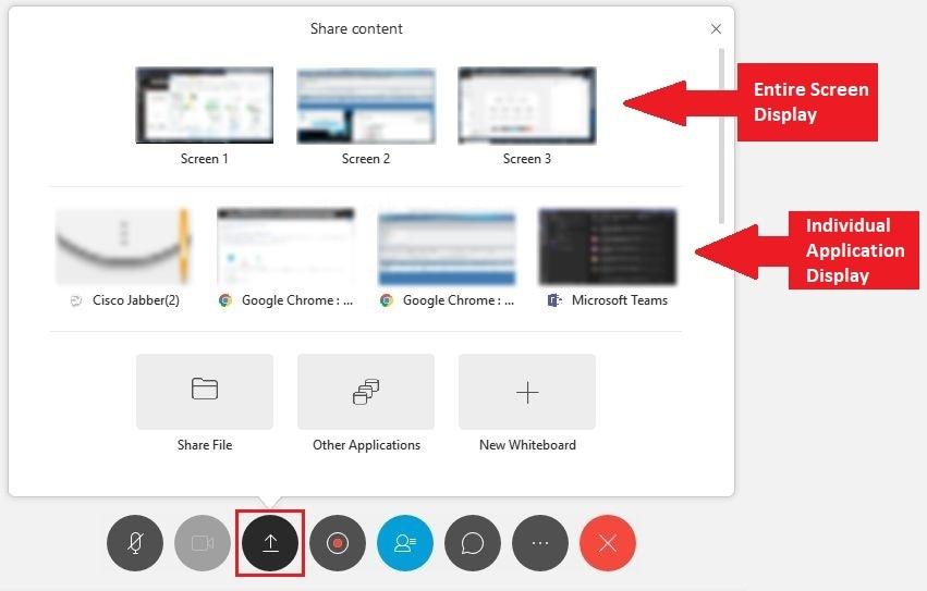 Share Screen on Cisco Webex