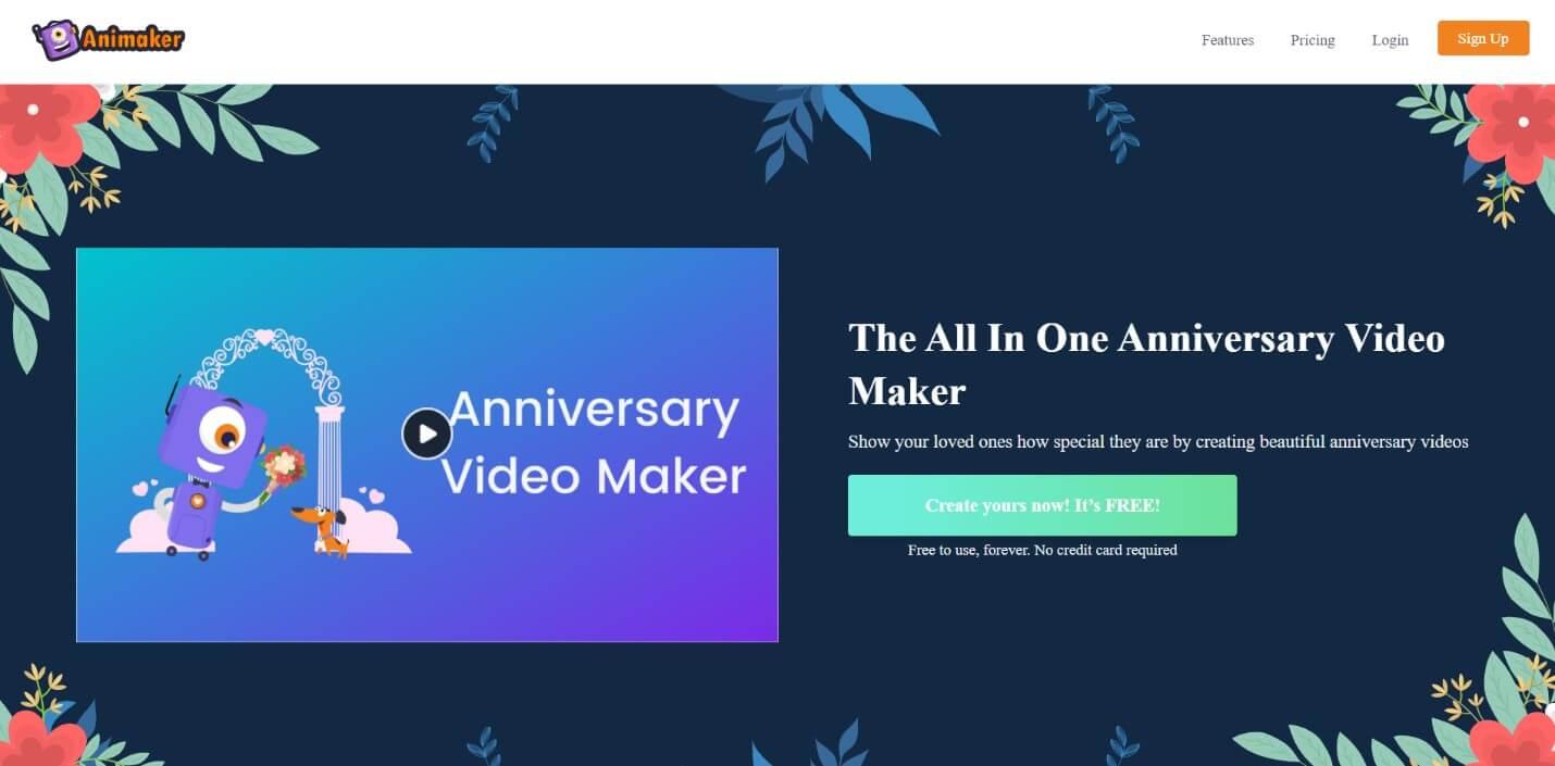Animaker Wedding Anniversary Video Maker
