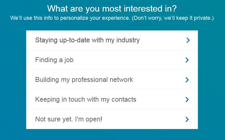 linkedin what you want