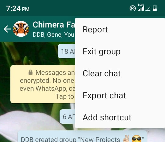 Whatsapp Export Chat Logs