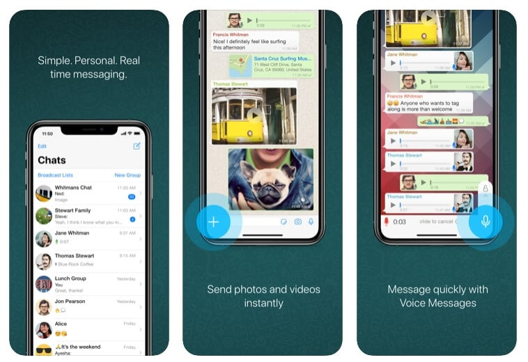 Alternativa FaceTime: WhatsApp Messenger