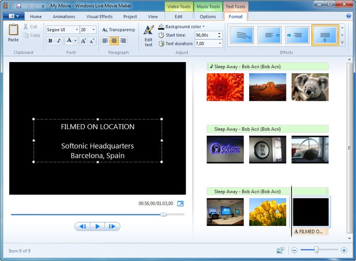 youtube video creator Windows Movie Maker