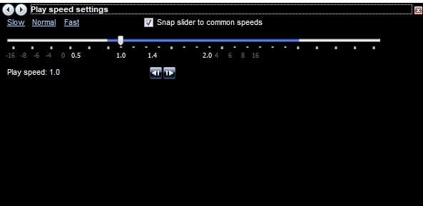 Windows Media Player Speed Settings