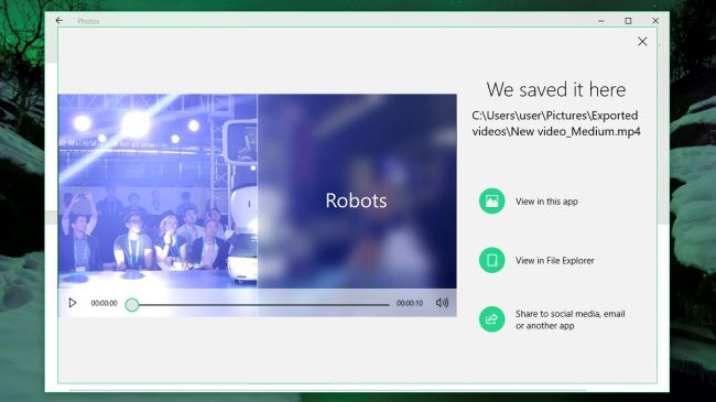Create videos with Story Remix on Windows10