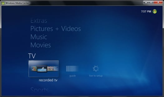 windows 7 recording tv