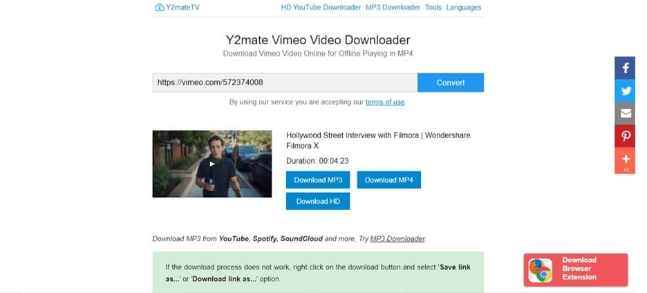 download Vimeo video online with  Y2mate Vimeo Downloader