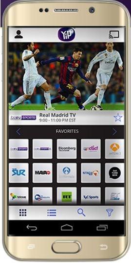 YipTV kostenlose sport  streaming app