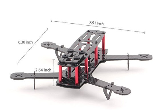 yks mini c250 quadcopter frame kit
