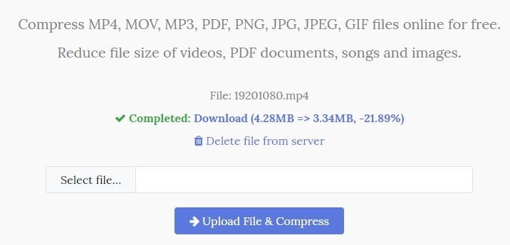 YouCompress  online video compressor