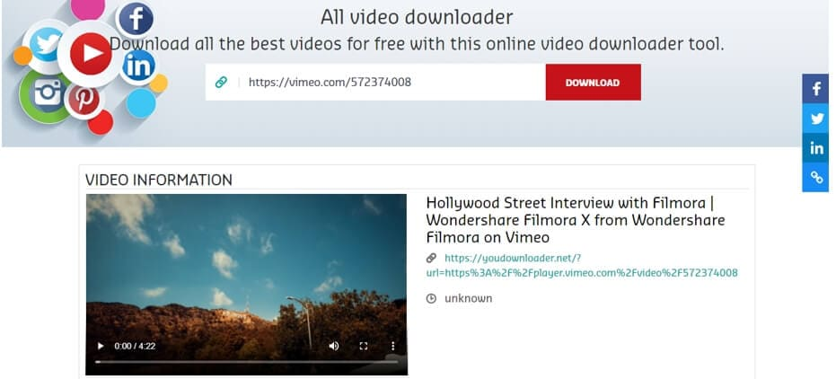 download Vimeo video online with You Downloader