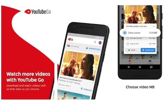 YouTube Go YouTube Alternative