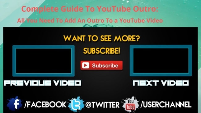 youtube outro making guide