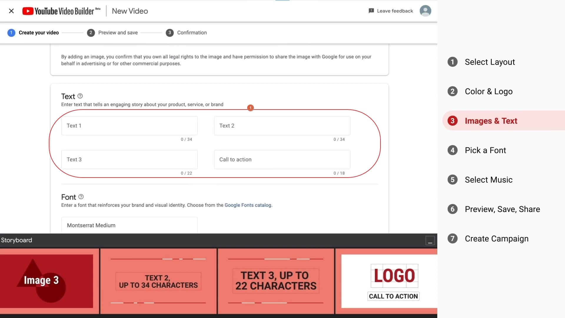 Create video with YouTube Video Builder with CTA