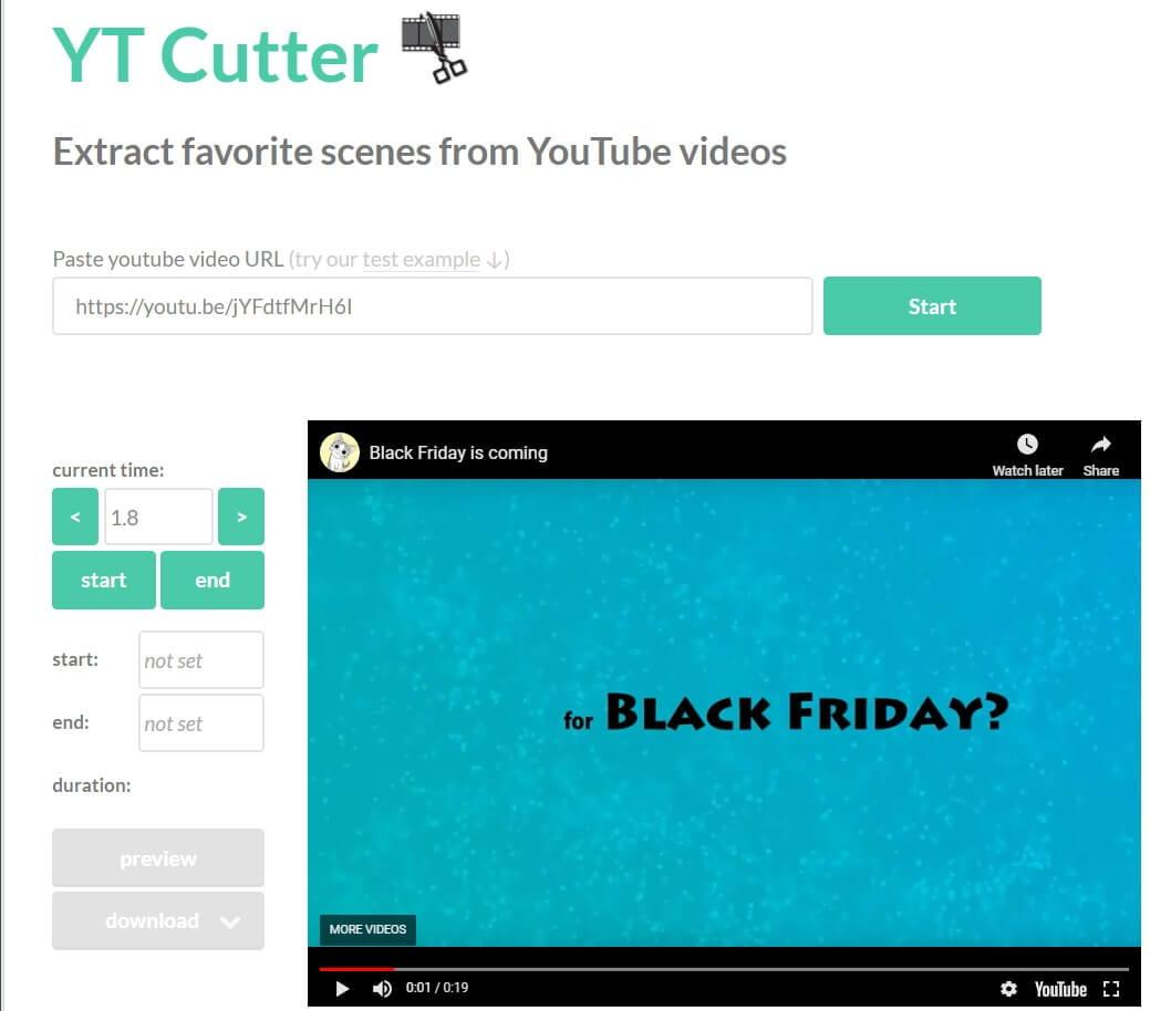 Trim YouTube Videos online