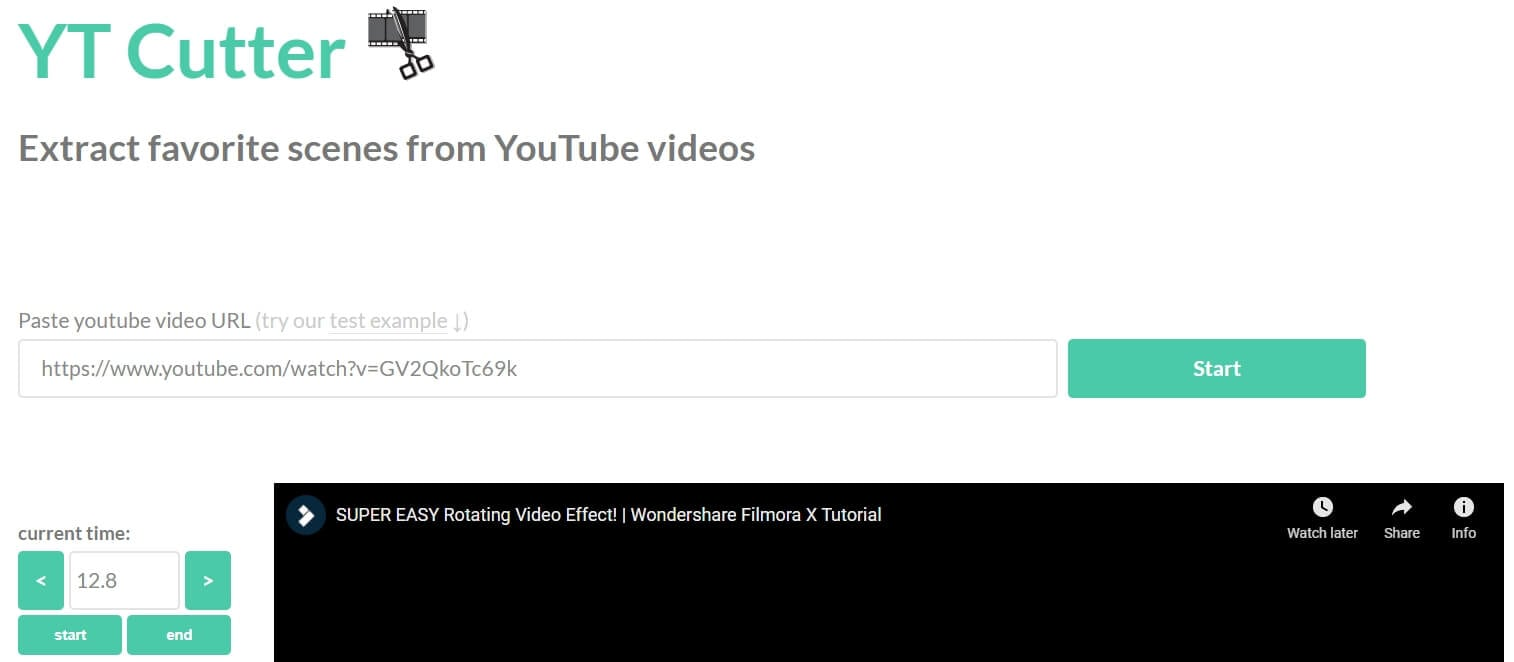 Download part of YouTube video with YT Cutter