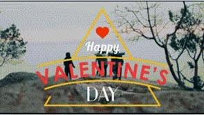 Fröhlicher Valentin
