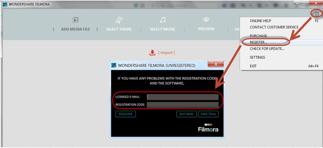 wondershare filmora email and registration code
