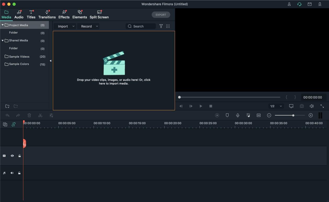 Import media in Filmora for Mac