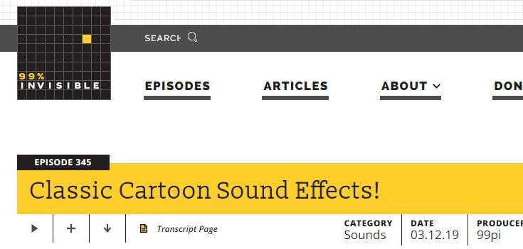 Cartoon Running Sound Effect