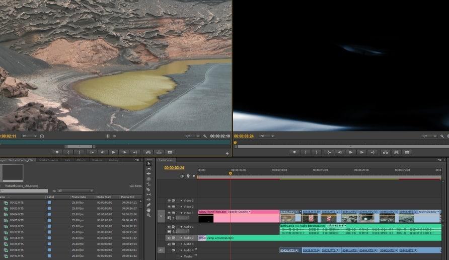 Adobe Premiere Pro CS6 interface
