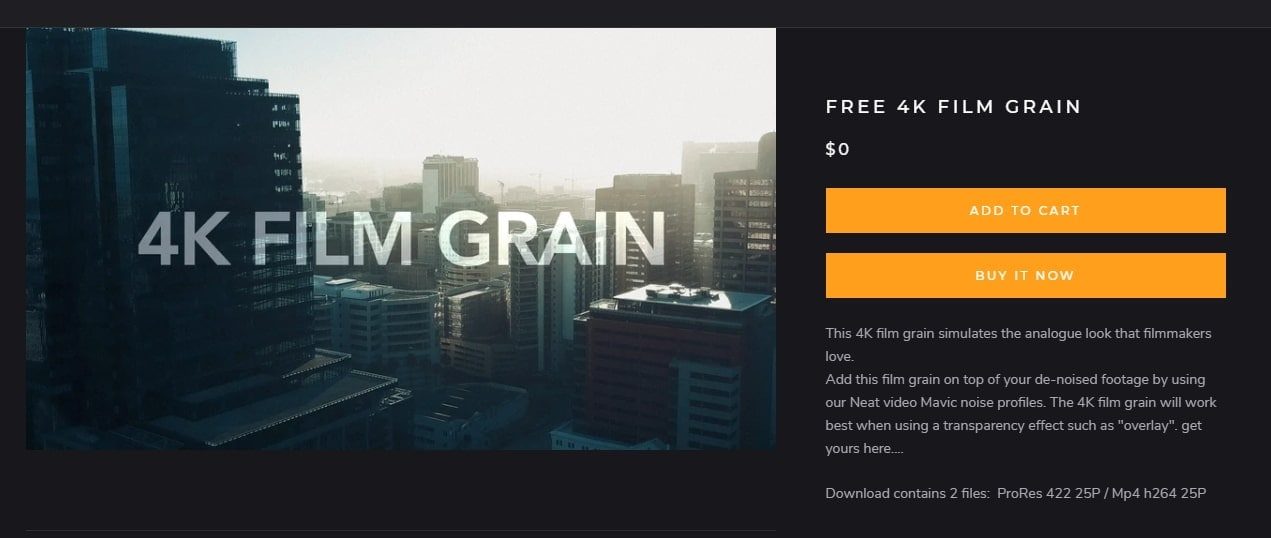 FREE 4K FILM GRAIN