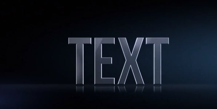 3d text after effects