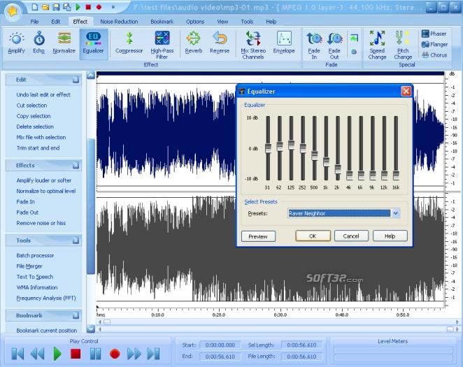 Editor de áudio grátis
