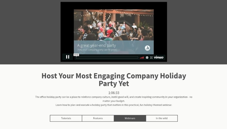 Holiday Themed Webinar