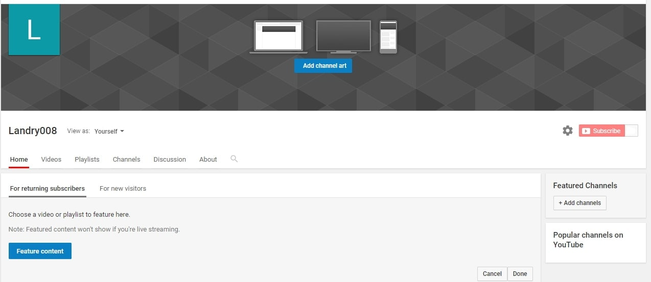 import YouTube icon banner
